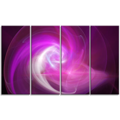 Pink Fractal Abstract Illustration Abstract CanvasWall Art - 4 Panels
