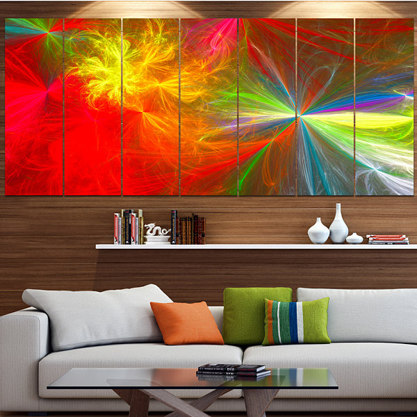 Design Art Colorful Christmas Spectacular Show Contemporary Canvas Art Print - 5 Panels
