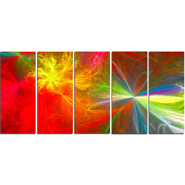 Design Art Colorful Christmas Spectacular Show Abstract Canvas Art Print - 5 Panels