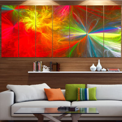 Designart Colorful Christmas Spectacular Show Abstract Canvas Art Print - 6 Panels