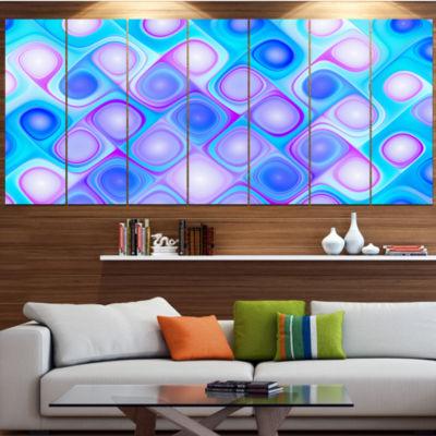 Designart Dense Blue Pattern With Swirls Contemporary Wall Art Canvas - 5 Panels