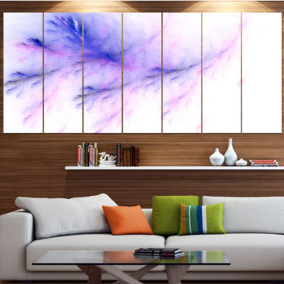 Designart Bright Blue Veins Of Marble Abstract Wall Art Canvas - 5 Panels