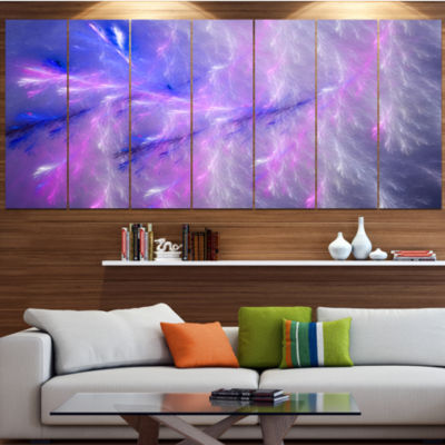 Mystic Blue Thunder Sky Abstract Canvas Art Print- 6 Panels