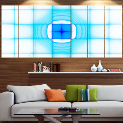 Design Art Blue Thermal Infrared Visor Abstract Canvas Art Print - 4 Panels