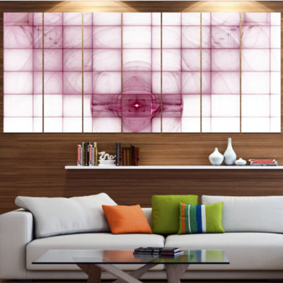 Designart Purple Bat On Rader Screen Abstract Canvas Art Print - 5 Panels