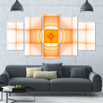 Yellow Thermal Infrared Visor Contemporary CanvasArt Print - 5 Panels