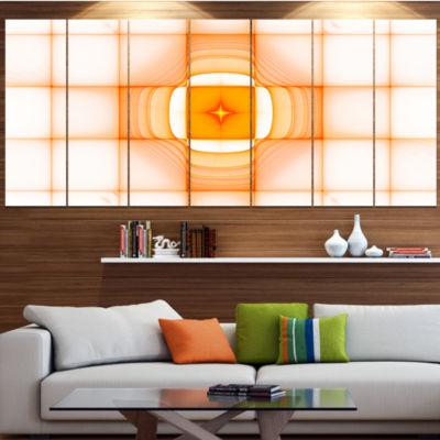 Design Art Yellow Thermal Infrared Visor AbstractCanvas Art Print - 5 Panels