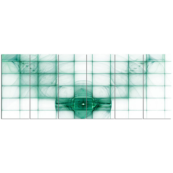 Design Art Light Blue Bat On Radar Screen AbstractCanvas Art Print - 6 Panels