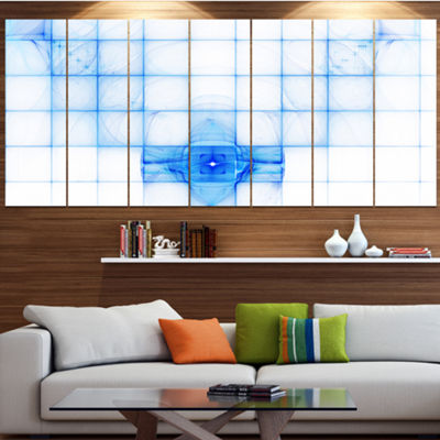 Designart Bat Outline On Radar Screen Abstract Canvas Art Print - 4 Panels