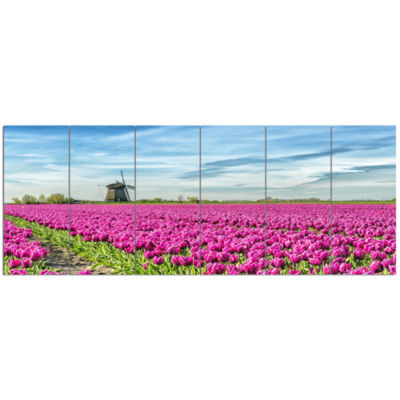 Traditional Holland Countryside Landscape Canvas Art Print - 6 Panels