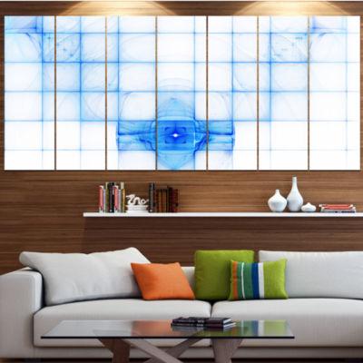 Designart Bat Outline On Radar Screen Abstract Canvas Art Print - 7 Panels