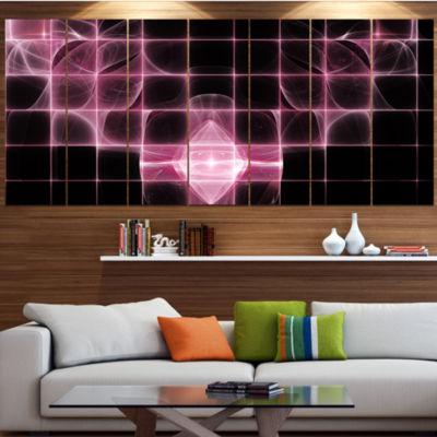 Designart Pink Bat Outline On Radar ContemporaryCanvas Art Print - 5 Panels