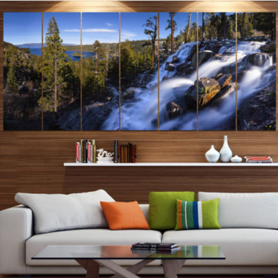 Designart Eagle Falls Emerald Bay Lake Tahoe Landscape LargeCanvas Art Print - 5 Panels