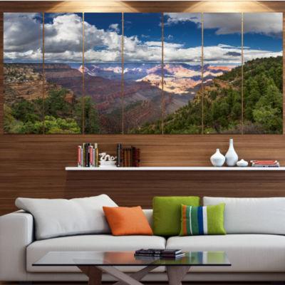 Design Art Us Grand Canyon In Colorado River Landscape LargeCanvas Art Print - 5 Panels