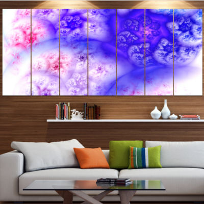 Designart Light Blue Magic Stormy Sky Abstract Canvas Art Print - 7 Panels