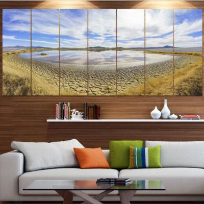 Designart Beautiful Grimshaw Lake Landscape CanvasArt Print- 5 Panels