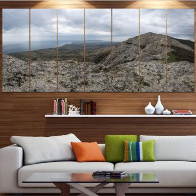Design Art Rocky Mountain Peak Panorama LandscapeCanvas Art Print - 5 Panels