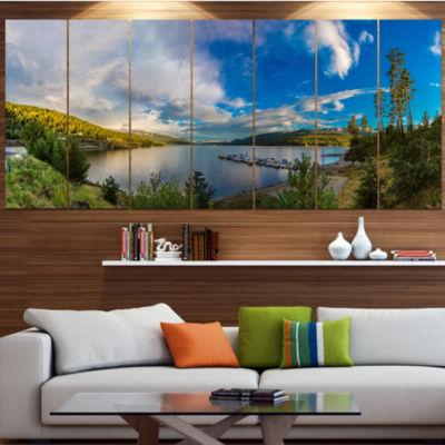 Designart Sognefjord In Norway Panorama LandscapeCanvas Art Print - 6 Panels