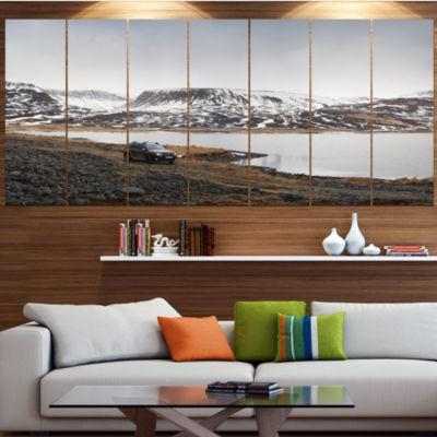 Designart Suv Road Trip Adventure Landscape CanvasArt Print- 4 Panels