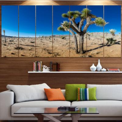 Designart Joshua Tree In Open Desert Landscape Canvas Art Print - 5 Panels
