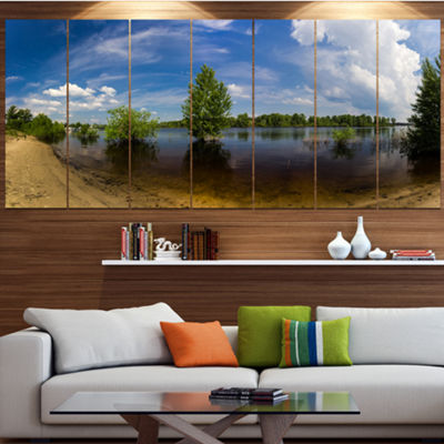 Designart Small Flood Panorama Landscape Canvas Art Print -5 Panels