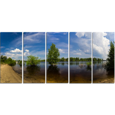 Small Flood Panorama Landscape Canvas Art Print -5 Panels