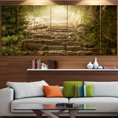 Designart Holy Light And Upstairs Landscape CanvasArt Print- 4 Panels
