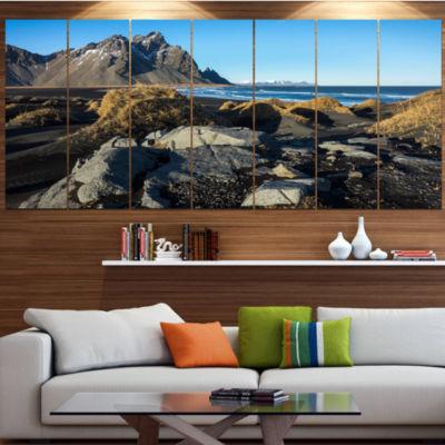 Designart Rocky Stokksness Iceland Landscape Canvas Art Print - 4 Panels