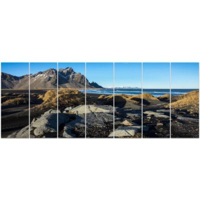 Designart Rocky Stokksness Iceland Landscape Canvas Art Print - 7 Panels