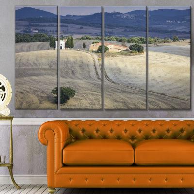 Designart Beautiful Sandy Landscape Landscape Canvas Art Print - 4 Panels