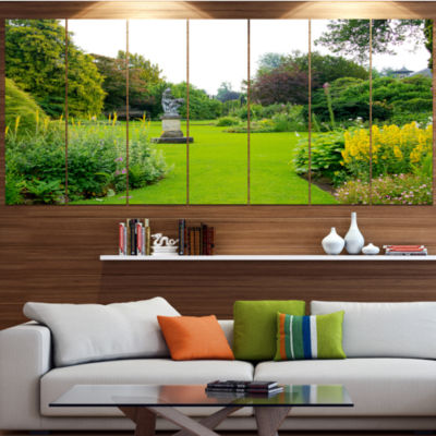 Designart Plant And Flowers In Garden Landscape Canvas Art Print - 7 Panels