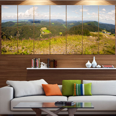 Designart Black Forest Germany Panorama LandscapeCanvas Art Print - 4 Panels
