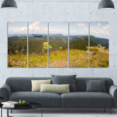Black Forest Germany Panorama Landscape Canvas ArtPrint - 5 Panels
