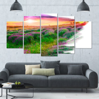 Brushes Painting The Nature Landscape Large CanvasArt Print - 5 Panels