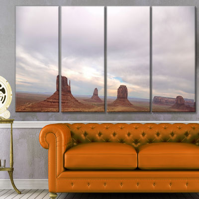 Designart Monument Valley Panorama Landscape Canvas Art Print - 4 Panels