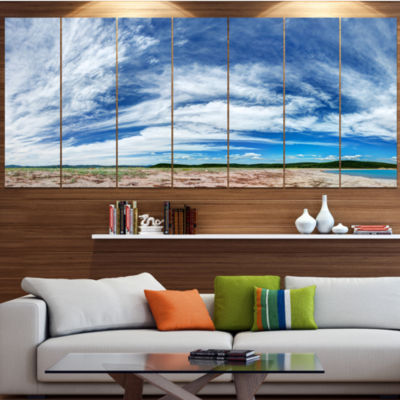 Designart Awesome Pacific Ocean Landscape CanvasArt Print -6 Panels