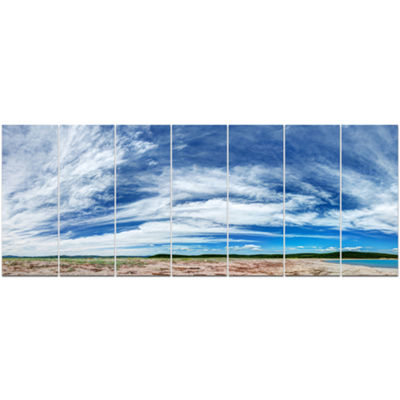 Designart Awesome Pacific Ocean Landscape CanvasArt Print -7 Panels