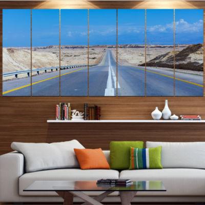 Designart Beautiful Desert Road Israel LandscapeCanvas Art Print - 6 Panels
