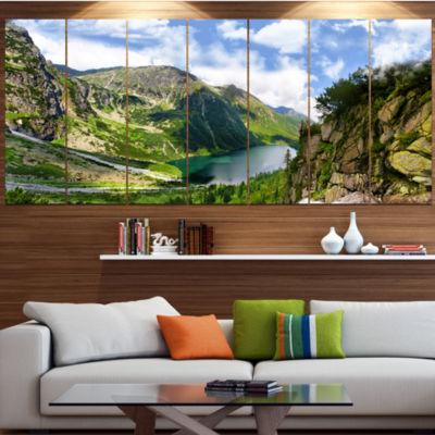 Designart Incredible View Of Tatra Mountains Landscape Canvas Art Print - 4 Panels