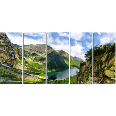 Designart Incredible View Of Tatra Mountains Landscape Canvas Art Print - 5 Panels
