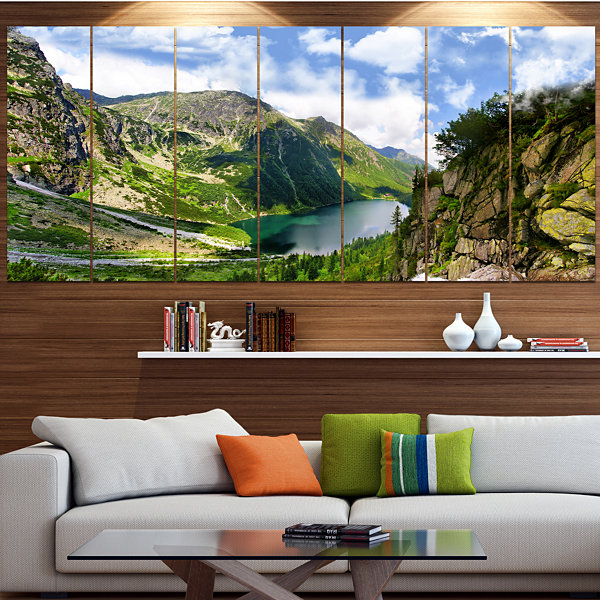 Design Art Incredible View Of Tatra Mountains Landscape Canvas Art Print - 6 Panels