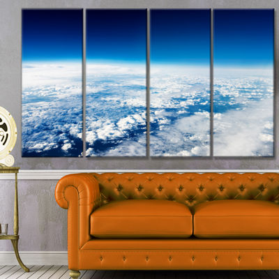Designart Stunning View From Airplane Landscape Canvas Art Print - 4 Panels