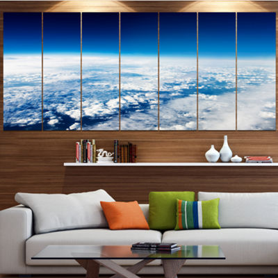 Designart Stunning View From Airplane Landscape Canvas Art Print - 6 Panels