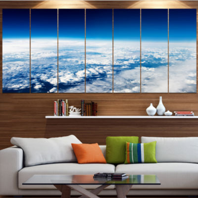 Designart Stunning View From Airplane Landscape Canvas Art Print - 7 Panels