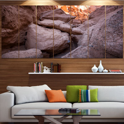 Designart Desert Mountains In Kazakhstan LandscapeLarge Canvas Art Print - 5 Panels