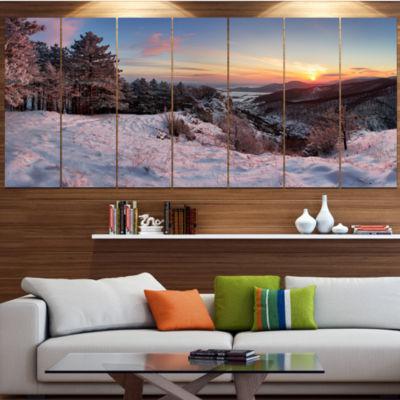 Designart Slovakia Panorama At Winter Landscape Canvas Art Print - 4 Panels