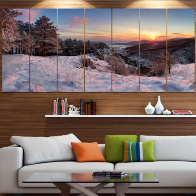 Designart Slovakia Panorama At Winter Landscape Canvas Art Print - 6 Panels