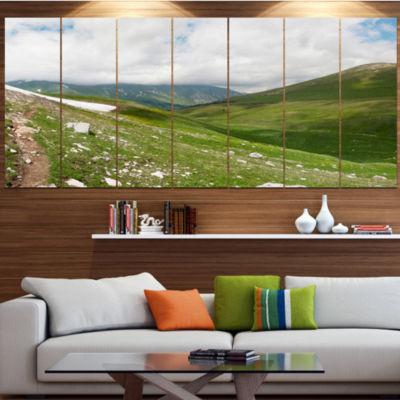 Designart North Caucasus Green Mountains LandscapeCanvas Art Print - 7 Panels