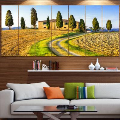 Tuscany Scenery Italy Landscape Canvas Art Print -5 Panels