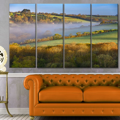Cornwall South West England Landscape Canvas Art Print - 4 Panels